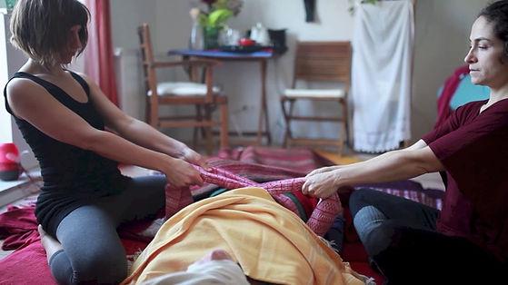 Cierre Postparto y masaje con rebozo Yolocihuacalli