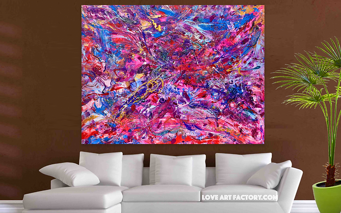 Kissing In the Wind Painting by Sher and