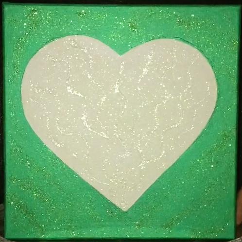 Love Light Green Waves