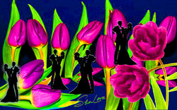 Purple Tulips Sher Love Collage