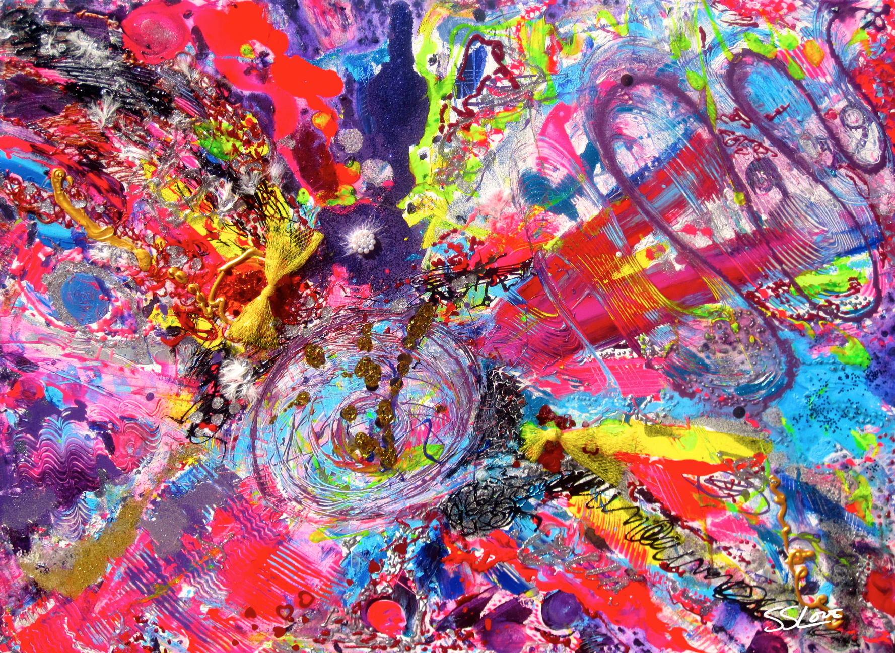 Blurred Lines SS Love 48x36