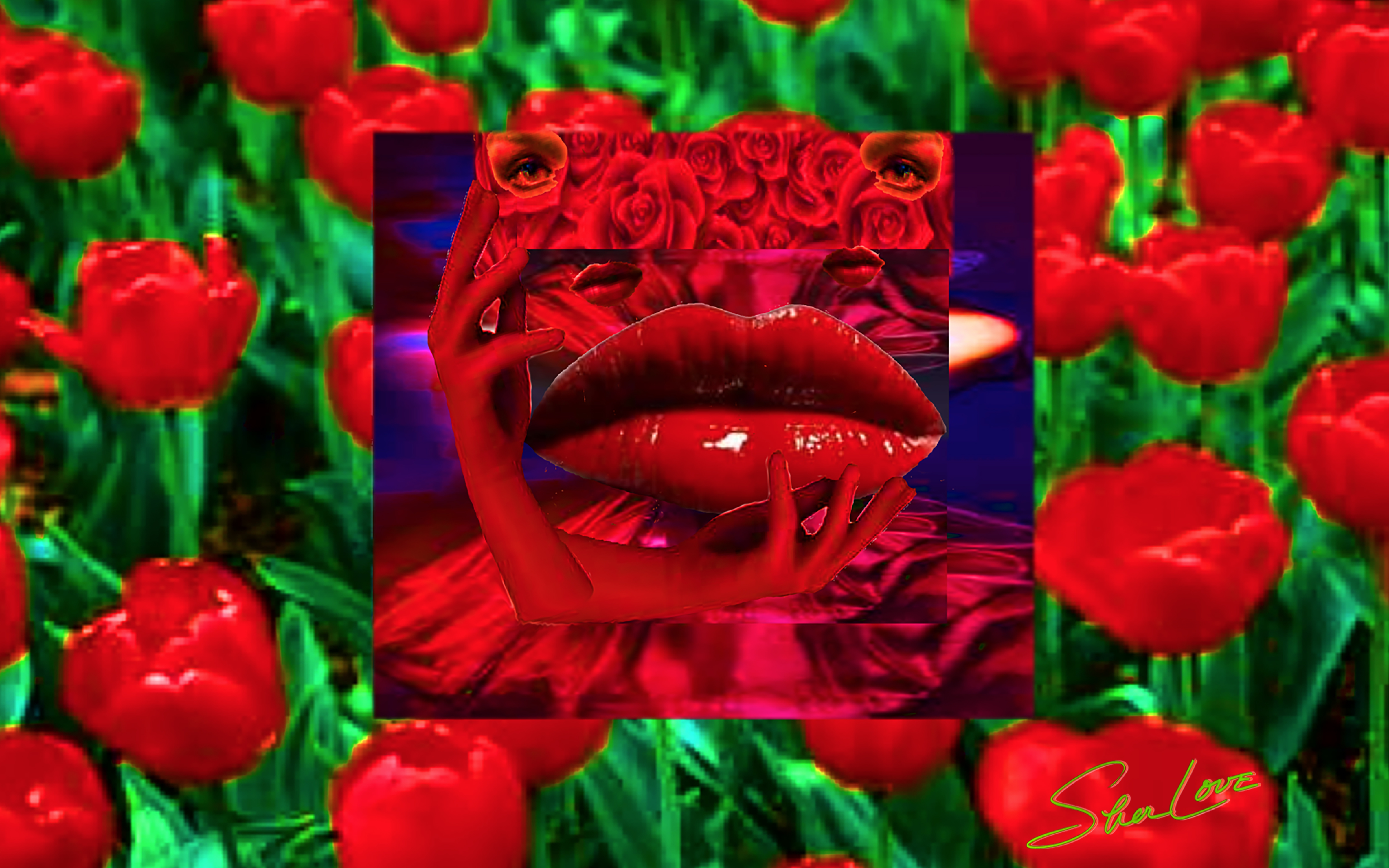 New 2 Lips Sher Love Collage