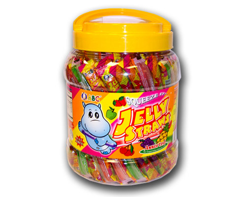 ABC Jelly Straws Assorted in Jar