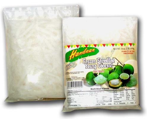 Handaan Frozen Shredded Young Coconut