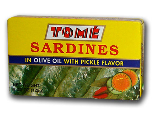 Tome Canned Sardines in Olive Oil with Pickles