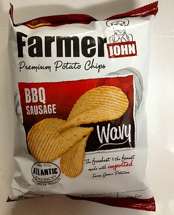 Leslie FJ Potato Chips Wavy Sausage