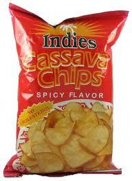 Indies Cassava Chips Spicy