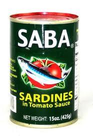 Saba Sardines in Tomato Sauce, Green