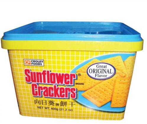 London Sunflower Crackers in tub, Plain