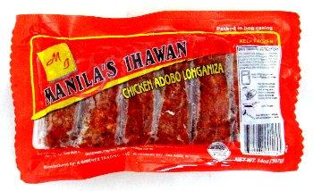 Manila Ihawan Frozen Chicken Adobo Longaniza
