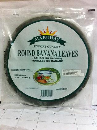 Mabuhay Frozen Banana Leaves Round
