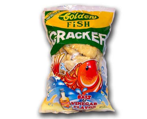 Golden Fish Crackers with salt & vinegar