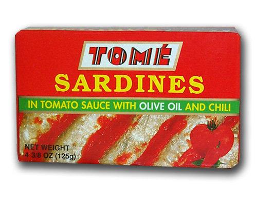 Tome Sardines in Tomato Sauce w/ Olive Oil & Chili