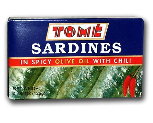 Tome Canned Sardine in Spicy Olive Oil with Chili