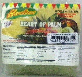 Handaan Frozen Heart of Palm (Ubod)