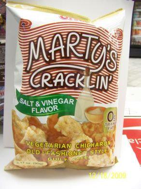 Marty's Cracklin, salt & vinegar