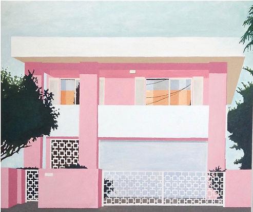 Eliza Gosse pink house painting