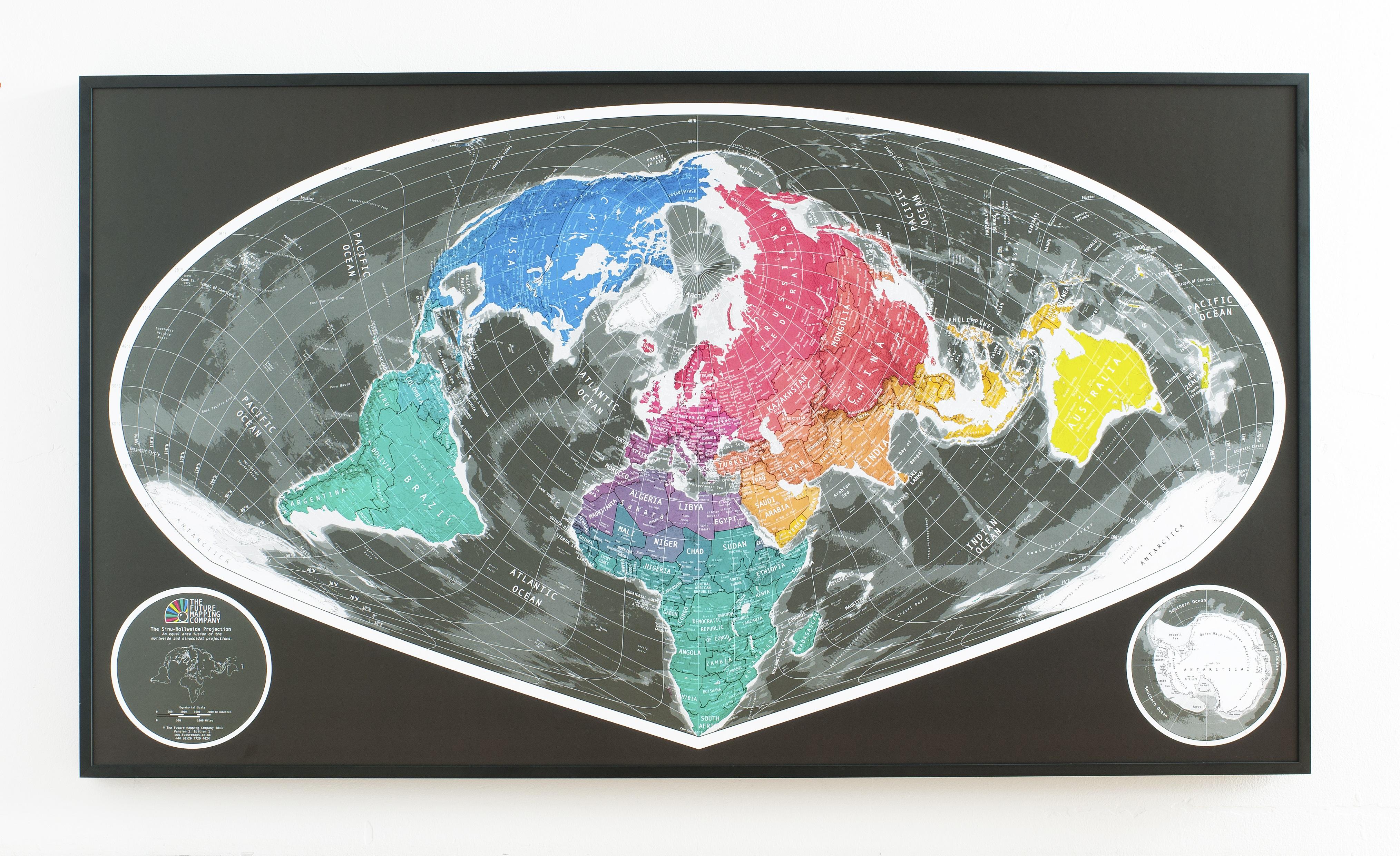 Wide Angle World Map