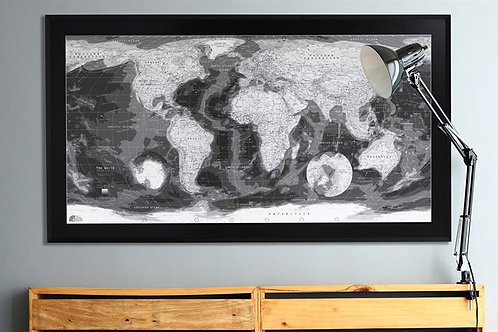 The Classic Paper Map (In Monochrome)