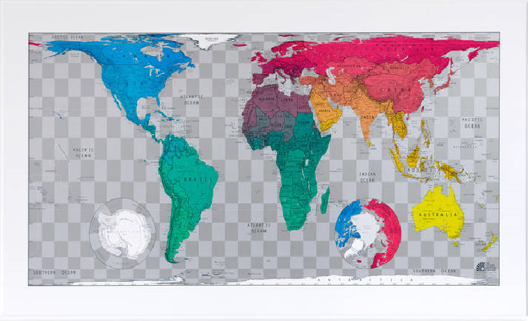 Vibrant Coloured Map