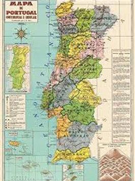 Portugal Vintage Map