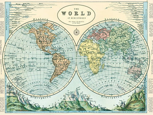 World Hemispheres Wrapper/Poster