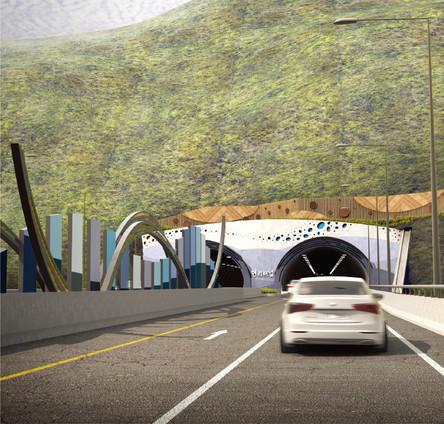 서울양양고속도로 현리터널 진출입부 디자인 특화