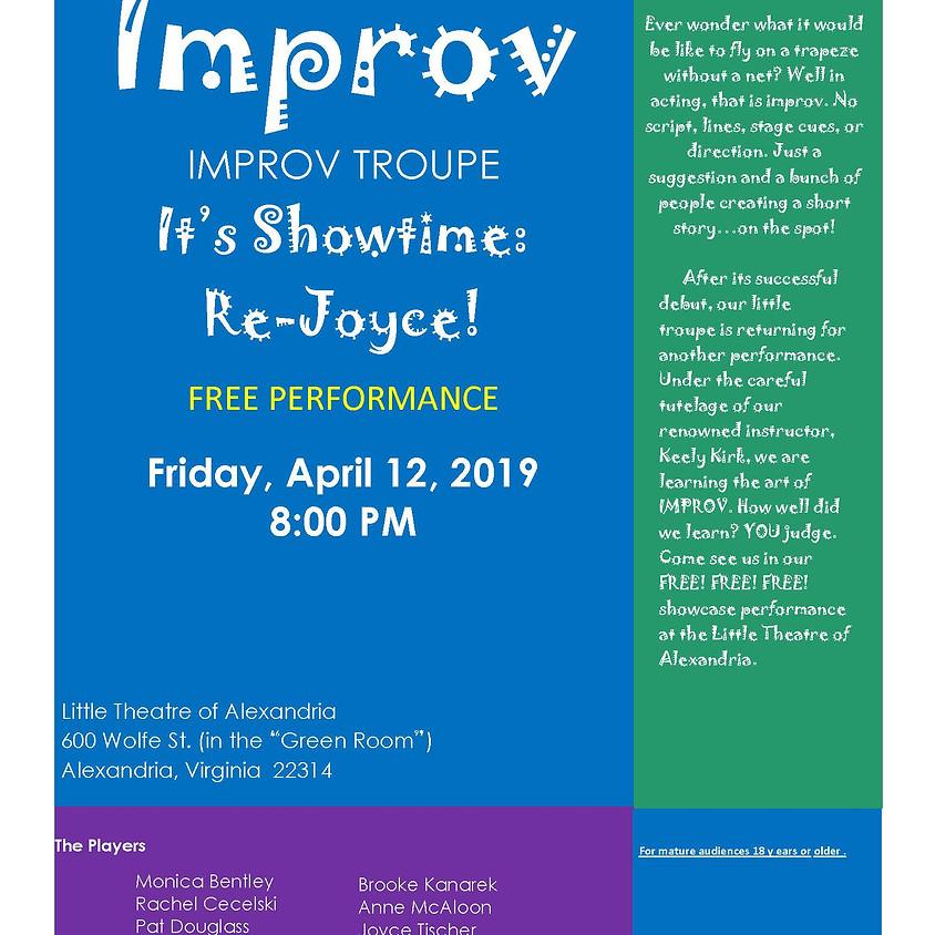 It's Showtime Class Showcase Show  Re -Joyce!