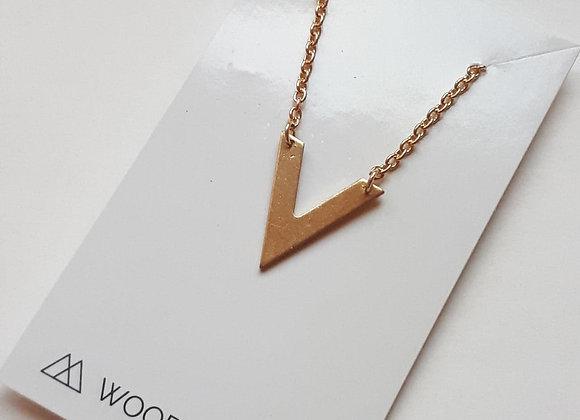 V Pendant Simple Boho Summer Necklace