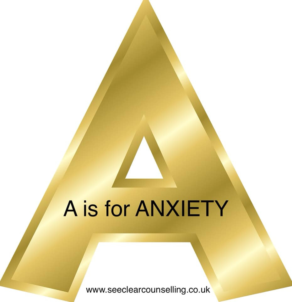 Gold letter A for Anxiety