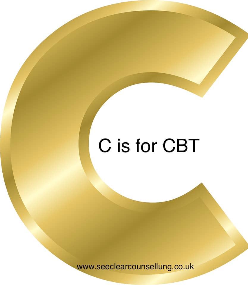 Gold letter C for CBT