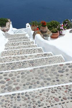 Stairway on Santorini