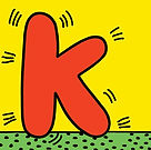 keith haring letter k