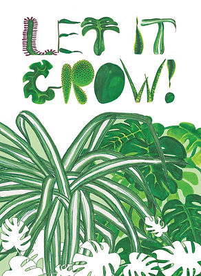Let it grow plant illustration