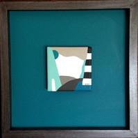 Limited Series #contemporaryart #contemporaryartist #geometry #bluegreen #blueshades