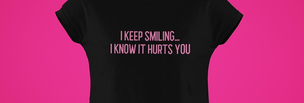 I KEEP SMILING CROP TOP