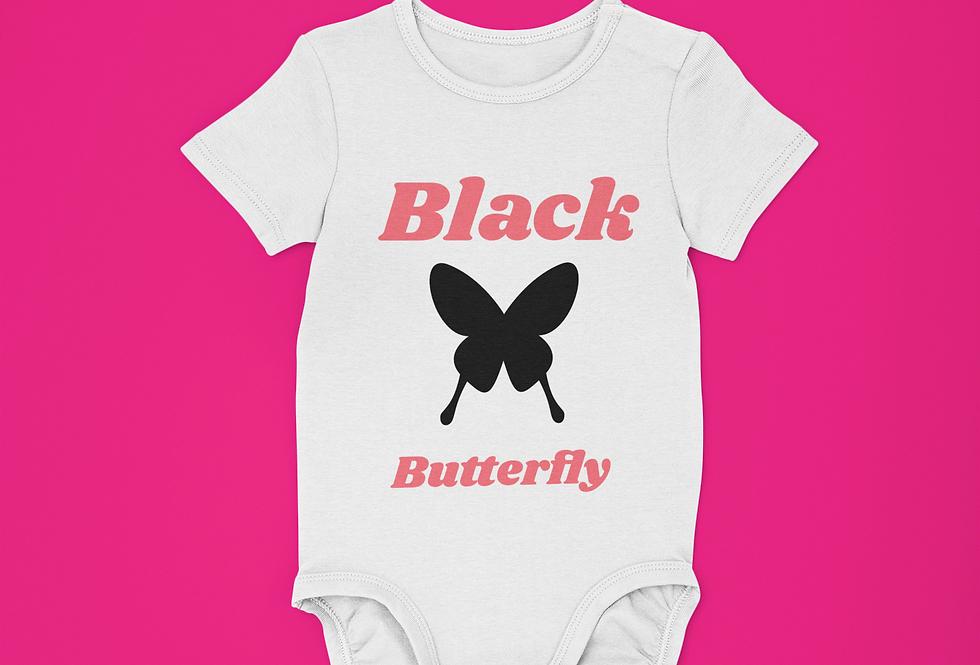 BLACK BUTTERFLY ONESIE