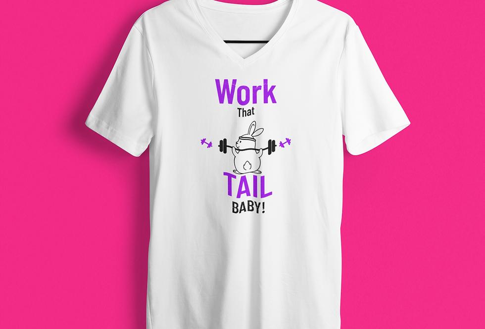 WORK THAT TAIL V-NECK