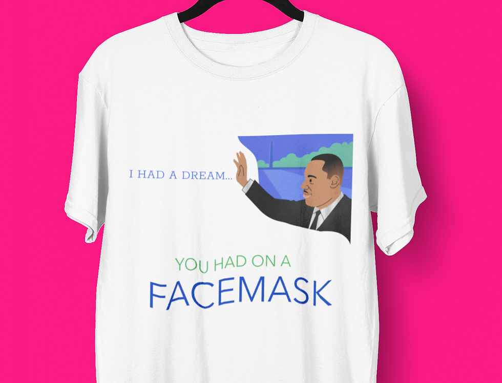 MLK FACEMASK T-SHIRT
