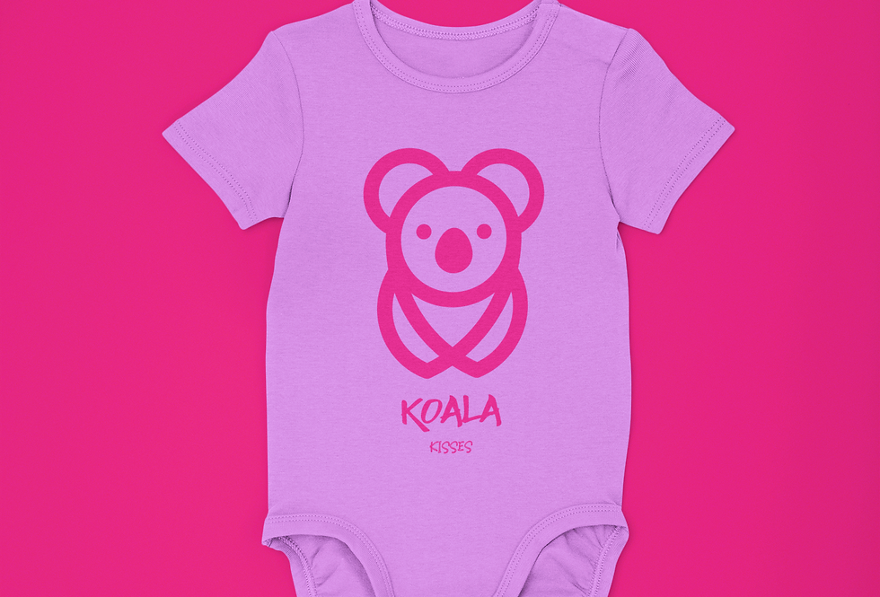 2 PIECE KOALA KISSES ONESIE SET (LAVENDER)