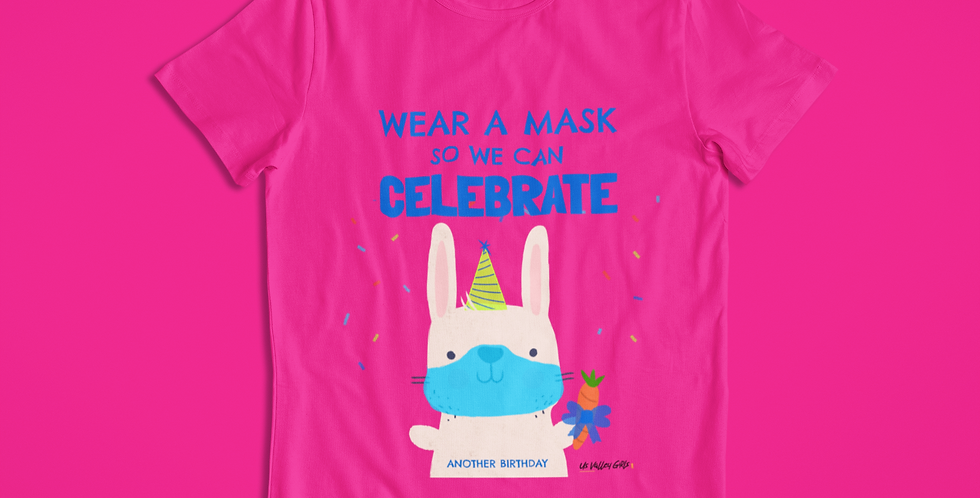 BIRTHDAY WEAR A MASK T-SHIRT KIDS