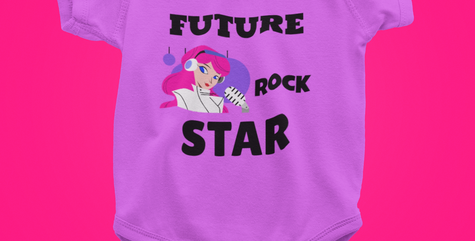 FUTURE ROCK STAR SPARKLE ONESIE