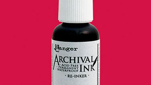 Archival Ink™ Pads Re-Inker Vermillion, 0.5oz