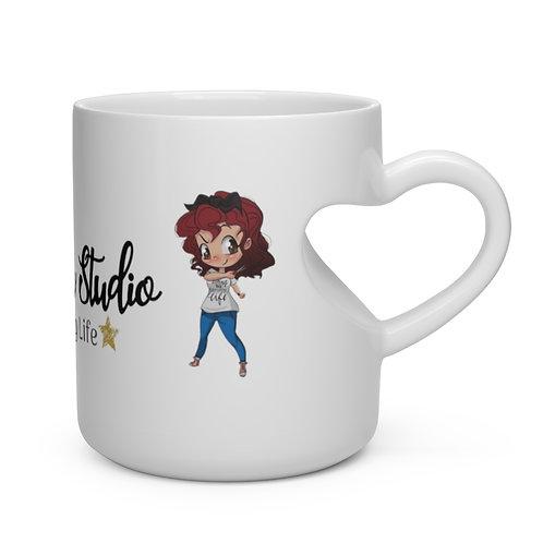 Misfit Crafter Studio Heart Shape Mug