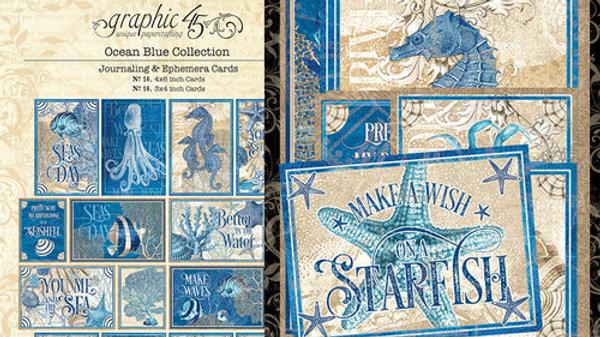 Ocean Blue Ephemera & Journaling Cards
