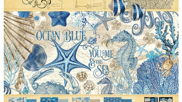 Ocean Blue 12x12 Collection Pack