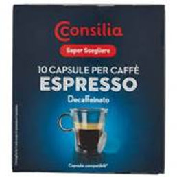 CAPSULE NESPRESSO CONSILIA DECAFFEINATO  0.055 X 10