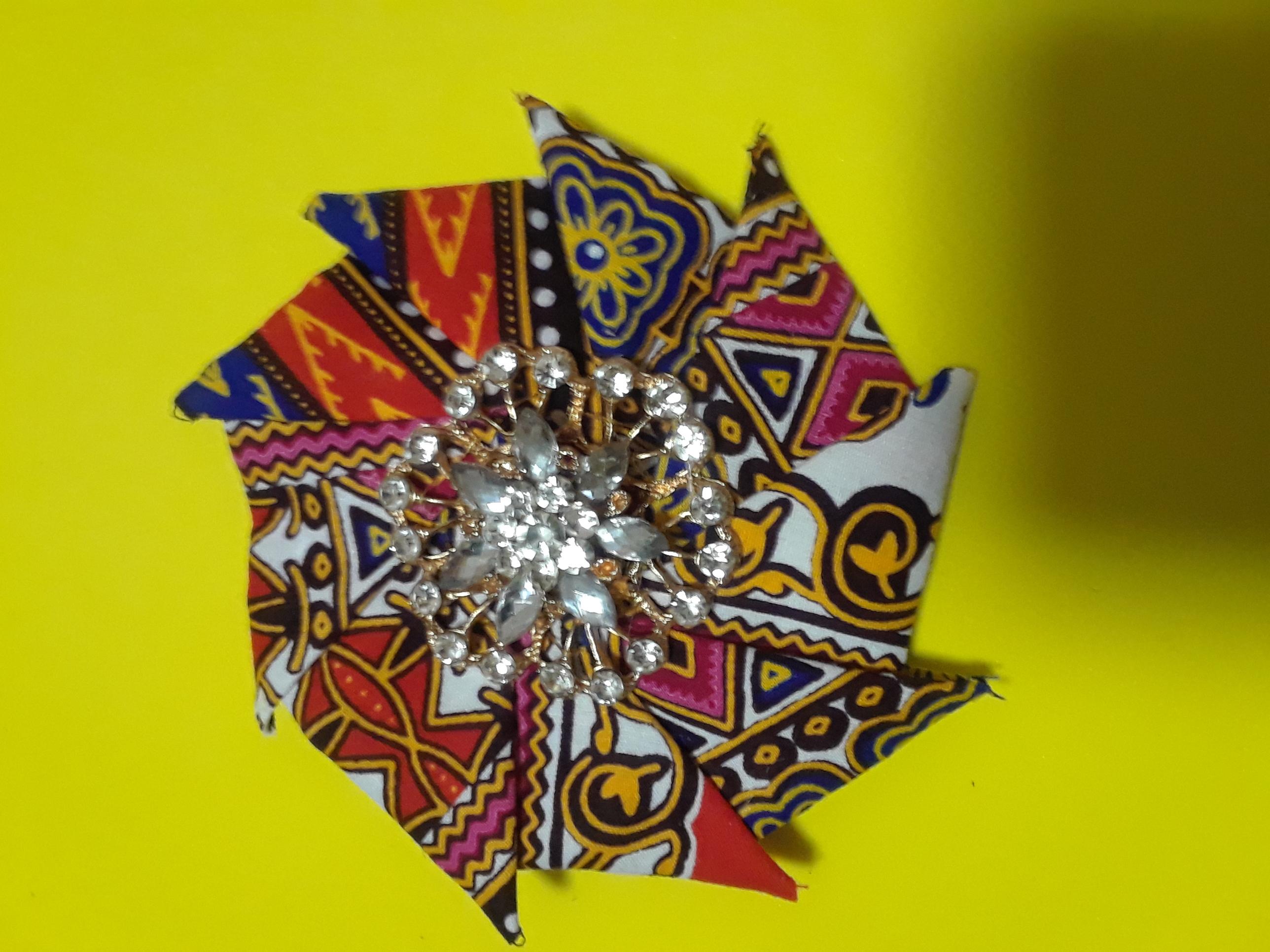 African print spiral