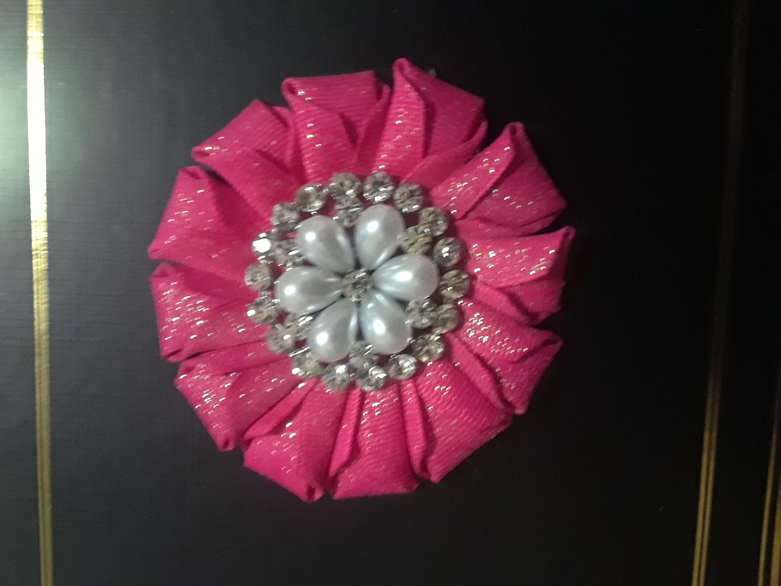 pink glitter fold