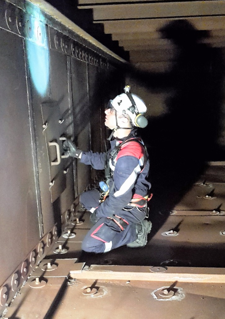 Confined spaces inspection